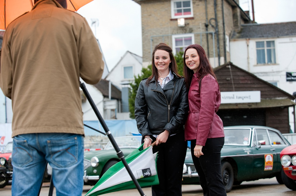 Elise & Seren  on location filming